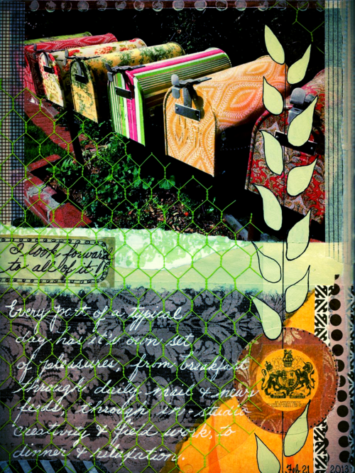collaged art journal page