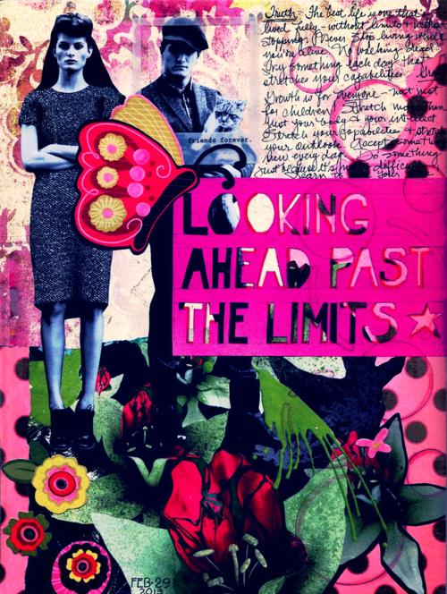 art journal page: motivation