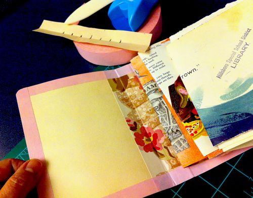 swatches, bookbinding, art journal
